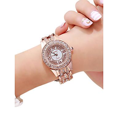 Žene Ručni satovi s mehanizmom za navijanje Diamond Watch Zlatni sat Kvarc Srebro / Rose Gold 30 m Kreativan New Design Analog dame Luksuz Moda - Pink Rose Gold Rose Gold / Srebrna
