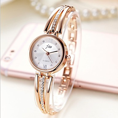 Damen Uhr Armband-Uhr Goldene Uhr Quartz Edelstahl Silber / Gold Armbanduhren für den Alltag Analog damas Armreif Modisch Silber Gold