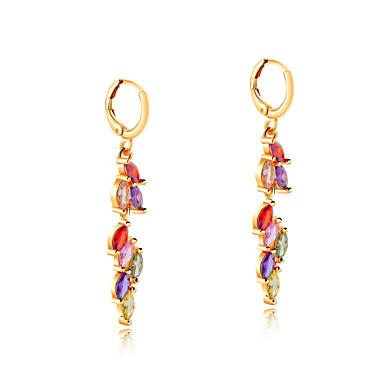 Žene Kubični Zirconia Viseće naušnice Long Poveznica / lanac dame Korejski Pozlaćeni Naušnice Jewelry Obala / Duga Za Dnevno 1 par