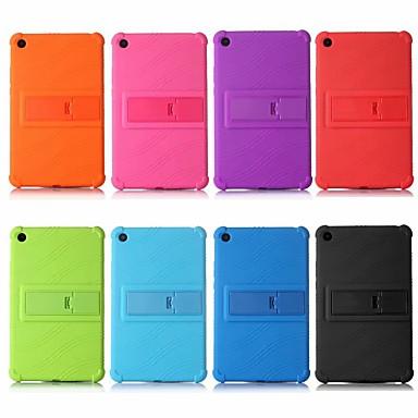 Недорогие Чехлы и кейсы для Xiaomi-Кейс для Назначение Xiaomi Xiaomi Tab 4 Защита от удара / со стендом Кейс на заднюю панель Однотонный Мягкий Силикон