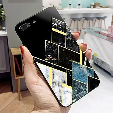 Θήκη Za Apple iPhone X / iPhone 8 Plus / iPhone 8 Uzorak Stražnja maska Linije / valovi / Mramor Tvrdo Kaljeno staklo