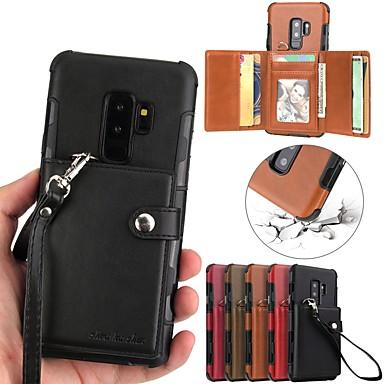 Θήκη Za Samsung Galaxy S9 / S9 Plus / S8 Plus Novčanik / Utor za kartice Stražnja maska Jednobojni Tvrdo PU koža