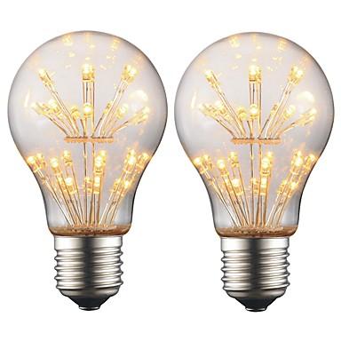2W e27 edison vodio žarulju a19 retro žarulja svjetlost AC 220v - 240v za bar božićne zabave noćno ozračje ukras (2 kom)