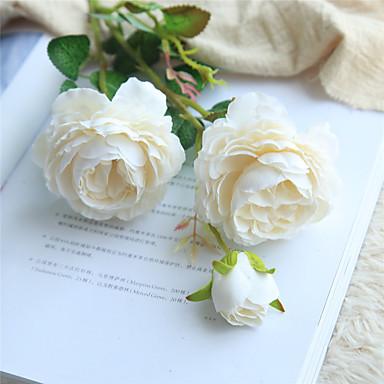 Umjetna Cvijeće 1 Podružnica Klasični Vjenčanje Cvijeće za vjenčanje Peonies Cvjeće za stol