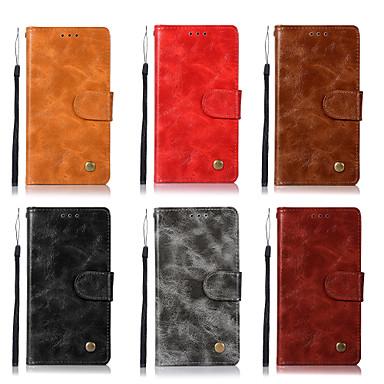 رخيصةأون Sony أغطية / كفرات-غطاء من أجل Sony Xperia XA2 Ultra / Xperia XA2 / Sony Xperia XA1 Ultra محفظة / حامل البطاقات / مع حامل غطاء كامل للجسم لون سادة قاسي جلد PU