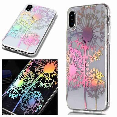 Недорогие Кейсы для iPhone 6-Кейс для Назначение Apple iPhone XS / iPhone XR / iPhone XS Max IMD / Прозрачный / С узором Кейс на заднюю панель одуванчик / Цветы Мягкий ТПУ