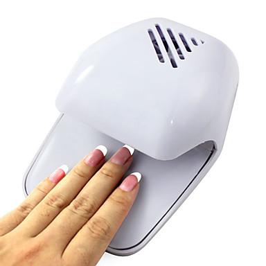 Presiunea electric Vânt automată Activează unghii de păr White Tip ventilator (Powered by 2 baterie AA)