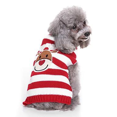 رخيصةأون ملابس وإكسسوارات الكلاب-كلاب البلوزات الشتاء ملابس الكلاب أسود أحمر كوستيوم كلب البلدغ شبعا اينو كوكر سبانيل تيريليني خيوط تطريز غزل مصبوغ شخصية تصميم أنيق كاجوال / يومي S M L XL XXL