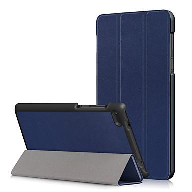 Недорогие Чехлы и кейсы для Lenovo-Кейс для Назначение Lenovo Lenovo Tab 7 Essential / Lenovo Tab 4 7 Essential Защита от пыли / Флип / Авто Режим сна / Пробуждение Чехол Однотонный Твердый Кожа PU