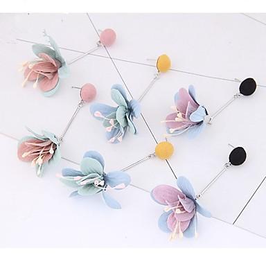 Žene 3D Viseće naušnice - Cvijet dame slatko Jewelry Crn / Bijela / Light Pink Za Dnevno 1 par