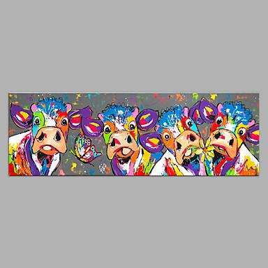 Hang oslikana uljanim bojama Ručno oslikana - Sažetak Pop art Moderna Bez unutrašnje Frame / Valjani platno