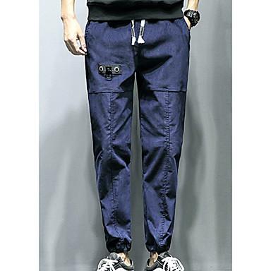 Muškarci Dnevno Slim Sportske hlače Hlače - Jednobojni Plava Crn Vojska Green XXL XXXL XXXXL