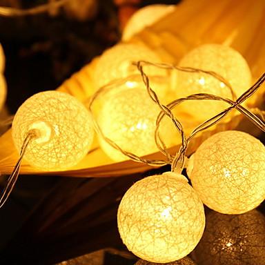 2m Žice sa svjetlima 20 LED diode Toplo bijelo Ukrasno AA baterije su pogonjene 1set