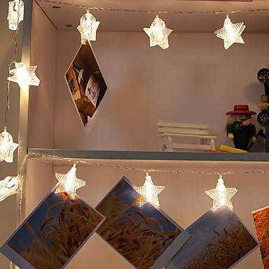 5m Žice sa svjetlima 20 LED diode Toplo bijelo Ukrasno / Osjetnik tijela 220-240 V 1set