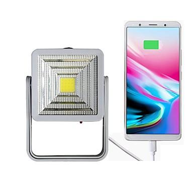 1pc Noćno svjetlo na otvorenom Bijela Solar Power Može se puniti / Zatamnjen / Hitan Baterija