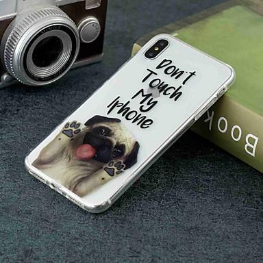 Недорогие Кейсы для iPhone 7 Plus-Кейс для Назначение Apple iPhone XS / iPhone XR / iPhone XS Max Прозрачный / С узором Кейс на заднюю панель С собакой Мягкий ТПУ