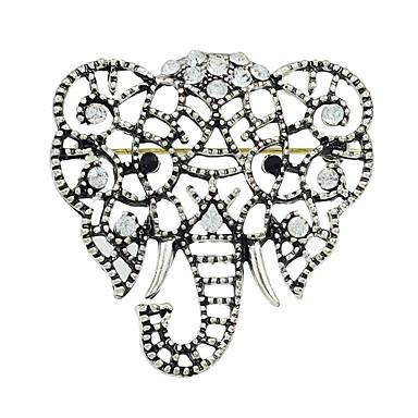 Žene Kubični Zirconia Broševi Slon dame Stilski Osnovni Broš Jewelry Pink Za Dar Dnevno