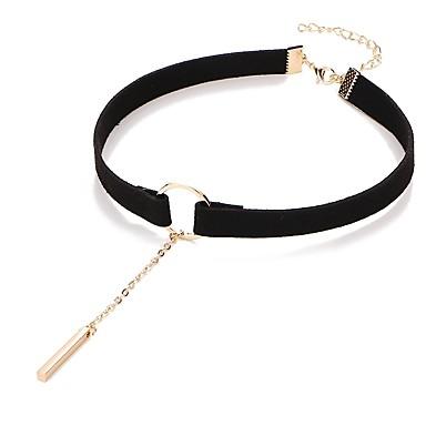 Žene Choker oglice Klasičan jeftino dame Lutaka Lolita PU Legura Crn Braon 31.5+7.5 cm Ogrlice Jewelry 1pc Za Dnevno Festival