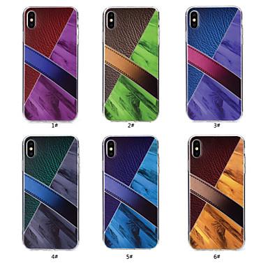 Θήκη Za Apple iPhone X / iPhone 8 Uzorak Stražnja maska Mramor Mekano TPU za iPhone X / iPhone 8 Plus / iPhone 8