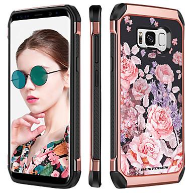 BENTOBEN Θήκη Za Samsung Galaxy S8 Otporno na trešnju / Pozlata / Uzorak Stražnja maska Cvijet Tvrdo TPU / PC za S8