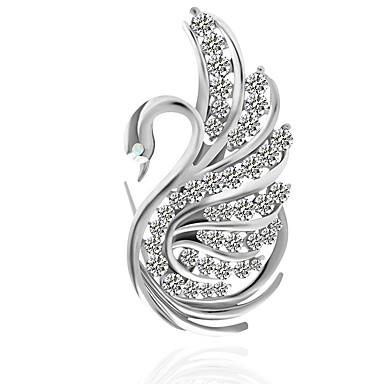 Žene Broševi Klasičan Labud Klasik Boho Broš Jewelry Srebro Za Dnevno