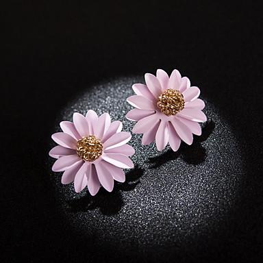 Žene Sitne naušnice Više slojeva Latica dame Korejski Naušnice Jewelry Bijela / Zelen / Light Pink Za Dnevno 1 par