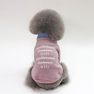 Psi Kaputi Zima Odjeća za psa Fuksija Zelen Pink Kostim Buldog Shiba Inu Mops (Pug) Pliš Lik Slogan Ležerno / za svaki dan Grijači S M L XL XXL