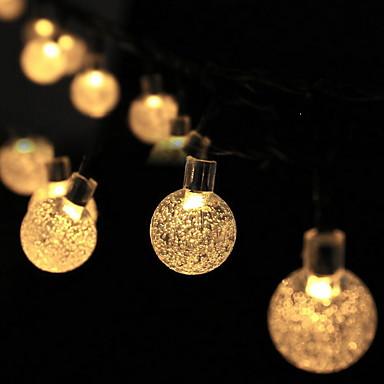 6m Žice sa svjetlima 30 LED diode Toplo bijelo Ukrasno Napelemes 1set