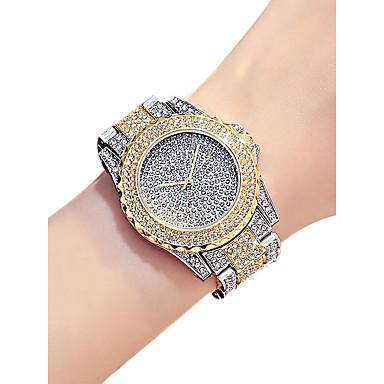 Žene Ručni satovi s mehanizmom za navijanje Diamond Watch Zlatni sat Kvarc Srebro / Zlatna / Rose Gold 30 m Vodootpornost imitacija Diamond Analog dame Moda - Pink Rose Gold Gold / Silver / Bijela