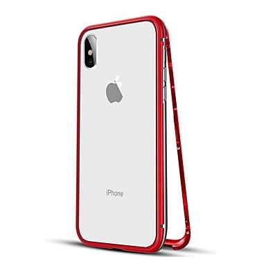 voordelige iPhone-hoesjes-hoesje Voor Apple iPhone XS / iPhone XR / iPhone XS Max Schokbestendig / Magnetisch Volledig hoesje Effen Hard Metaal