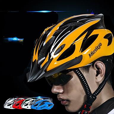 Odrasli Bike kaciga 15 Ventilacijski otvori CPSC Light Weight Integralno oblikovana EPS PC Sportski Biciklizam / Bicikl Motociklizam - Crna / Green Bule / crna Crna / žuta Muškarci Žene