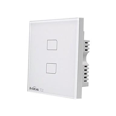 BroadLink Smart prekidač TC2 2gang-UK za Dnevna soba / Studija / Spavaća soba APP kontrola / WIFI kontrolu / inteligentan 170-240 V