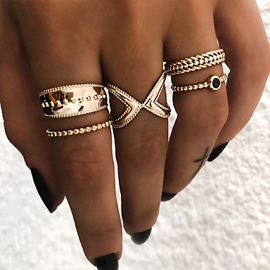 Žene Prestenje knuckle ring Prstenasti set Midi prstenje 5pcs Zlato Srebro Smola Legura Geometric Shape dame Vintage Punk Dnevno Ulica Jewelry Retro Cool
