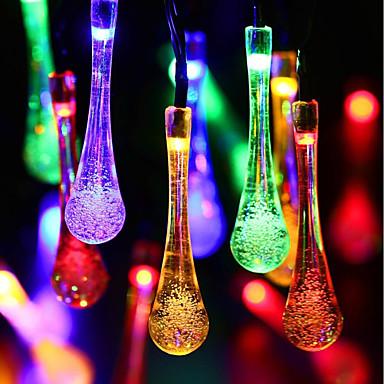 BRELONG® 6,8 Žice sa svjetlima 50 LED diode Toplo bijelo / RGB Vodootporno / Sunce / Party Napelemes 1pc