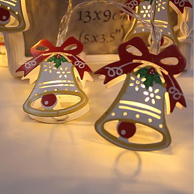 BRELONG® 1.5m Žice sa svjetlima 10 LED diode Toplo bijelo Vodootporno / Kreativan / Party 3 V 1pc / IP44