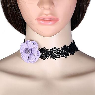 Žene Choker oglice - Čipka Cvijet dame, Stilski, Jednostavan Crvena, Svjetlo ljubičasta, Crvena 32+7 cm Ogrlice Jewelry 1pc Za Dnevno
