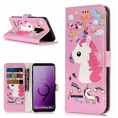 Θήκη Za Samsung Galaxy S9 / S9 Plus / S8 Plus Novčanik / Utor za kartice / sa stalkom Korice Jednorog Tvrdo PU koža