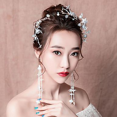 Nevjesta Clasic Tradicionalno Kineski stil Šeširi Viseće naušnice Svadbeni nakit Setovi Za Djevojačka večer Svadba Žene Djevojčice Nakit odjeće