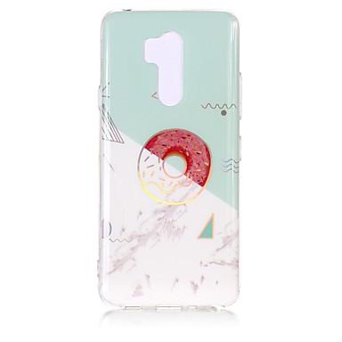 رخيصةأون LG أغطية / كفرات-غطاء من أجل LG LG V35 / LG Q7 / LG K10 2018 IMD / نموذج غطاء خلفي حجر كريم ناعم TPU