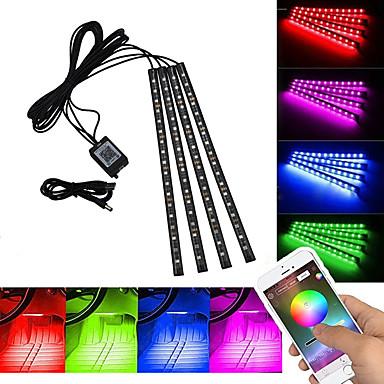 رخيصةأون شرائط ضوء مرنة LED-HKV 2M شرائط قابلة للانثناء لأضواء LED 48 المصابيح SMD5050 RGB أب التحكم / يو اس بي / مناسبة للالسيارات 5 V 1SET