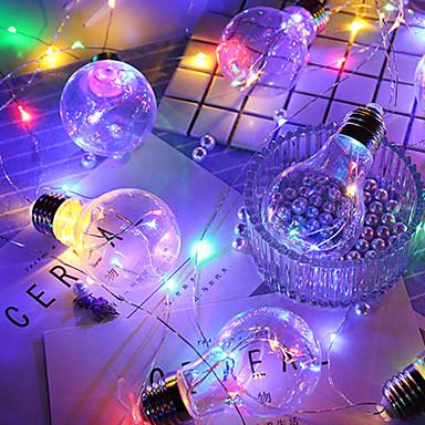 HKV 4m Žice sa svjetlima 10 LED diode Toplo bijelo / RGB Vodootporno / Party / Ukrasno AA baterije su pogonjene 1pc