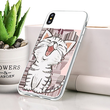 Θήκη Za Apple iPhone XS Max Protiv prašine / Ultra tanko / Uzorak Stražnja maska Mačka / Životinja Mekano TPU