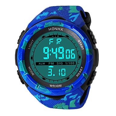 رجالي ساعة رياضية ساعة رقمية ياباني رقمي سيليكون أسود / أزرق 30 m مقاوم للماء المنبه رزنامه رقمي موضة - أسود أزرق / الكرونوغراف / ساعة التوقف / قضية