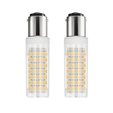 2pcs 6 W หลอด LED รูปข้าวโพด 750 lm BA15D T 88 ลูกปัด LED SMD 2835 ขาวนวล ขาวเย็น 85-265 V