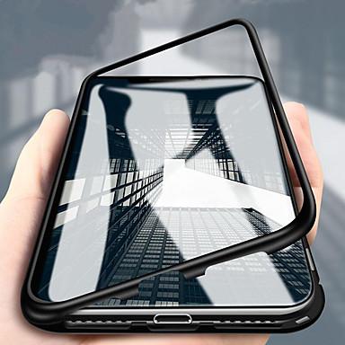 رخيصةأون Huawei أغطية / كفرات-غطاء من أجل Huawei Huawei P20 / Huawei P20 Pro / Huawei P20 lite ضد الصدمات غطاء خلفي لون سادة قاسي زجاج مقوى