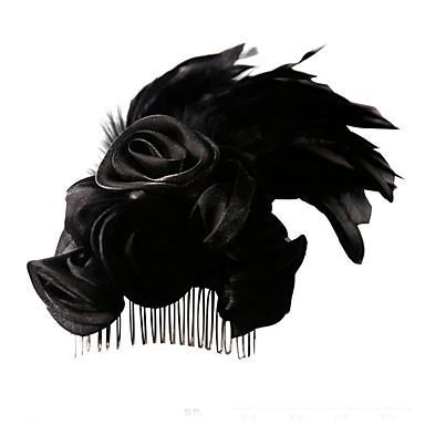 Crni labud Lolita oprema Cvijetan Retro / vintage 1920s Vampir Šeširi Trake za kosu Kopče za kosu Fascinators Za Večer stranka Prom Svadba Žene Djevojčice Nakit odjeće / Perje