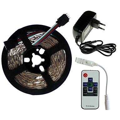 SENCART 5m Setovi svjetala 300/150 LED diode SMD5050 1 x 2A mrežni adapter / 1 10Ključuje daljinski upravljač RGB Cuttable / Ukrasno / Povezivo 100-240 V 1set