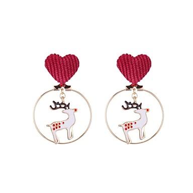 Žene Viseće naušnice Klasičan Los dame Stilski Naušnice Jewelry Zlato Za Božić 1 par