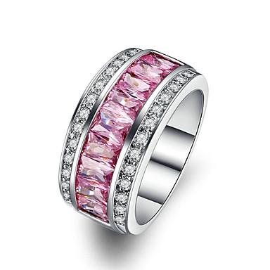 Žene Pink Kubični Zirconia Više slojeva Prsten Kamen dame Moda Modno prstenje Jewelry Pink Za Dar Maškare 5 / 6 / 7 / 8 / 9