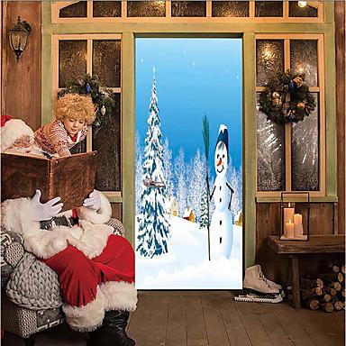 Vrata za vrata - 3D zidne naljepnice Božić / Odmor Unutrašnji / Outdoor